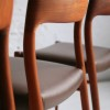 Danish Teak Dining Chairs by Niels Moller 3