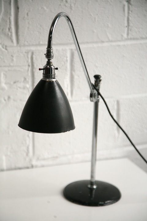original 1930s bestlite desk lamp cream and chrome