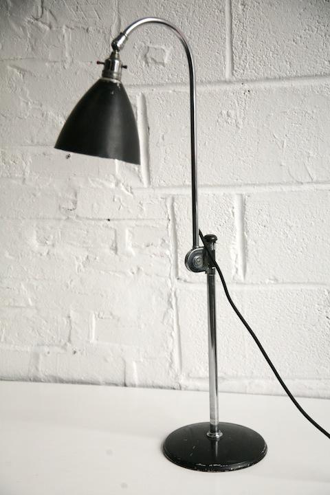 Original 1930s Bestlite Desk Lamp Cream And Chrome
