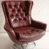 Red 1960s Swivel Chair
