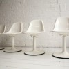 Set of 4 1960s White Dining Chairs 2