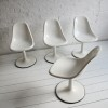 Set of 4 1960s White Dining Chairs 4