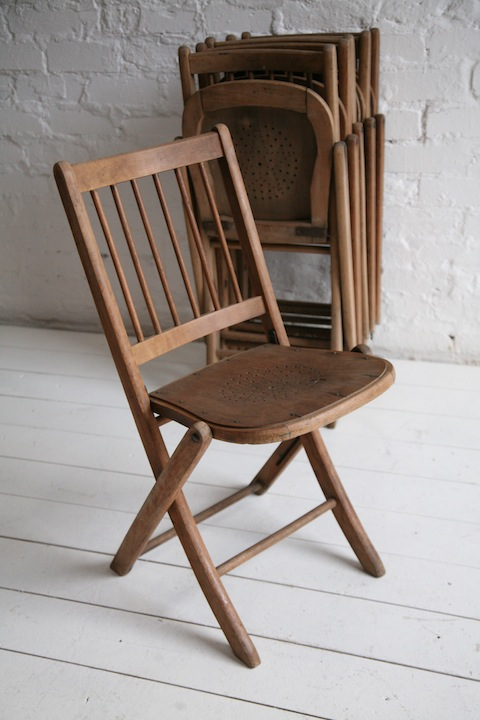 Set of 6 Vintage Folding Chairs