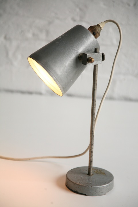 Vintage Laboratory Lamp Cream And Chrome