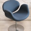 Paulin Tulip Chair in 'Storm' Blue Wool2