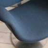 Paulin Tulip Chair in 'Storm' Blue Wool3