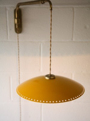 1950s Brass Wall Light