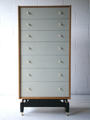 1960s Oak G Plan Tallboy1