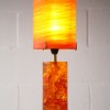 1960s Shatterline Resin Table Lamp