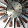 1960s Sunburst Wall Clock