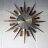 1960s Sunburst Wall Clock1