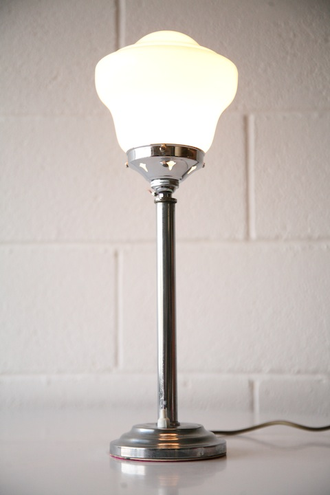 Art deco chrome table lamp cream and chrome art deco chrome table lamp aloadofball Image collections