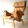 Bruno Mathesson Pernilla Chair in Beige Leather