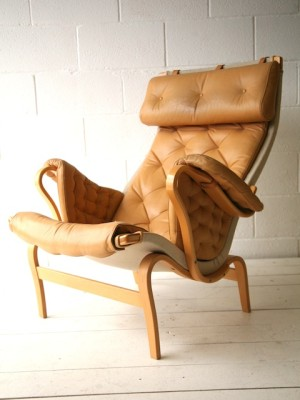 Bruno Mathesson Pernilla Chair in Beige Leather