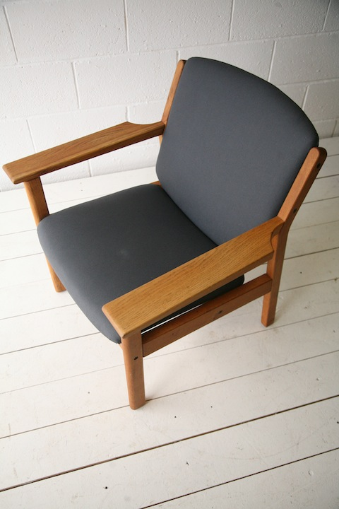 Danish Oak Armchair by Jorgen Baekmark