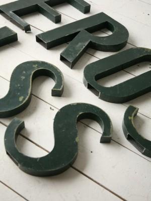 Vintage Metal Shop Letters