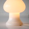 Vintage White Glass Table Lamp 1
