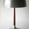 1960s Aluminium Rosewood Table Lamp