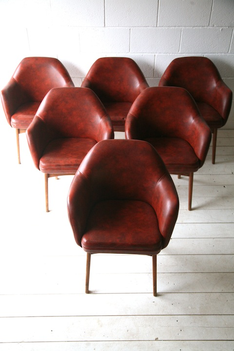 1960s Chairs By Ben Chairs Cream And Chrome