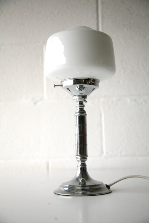 Art Deco Chrome Table Lamp 22