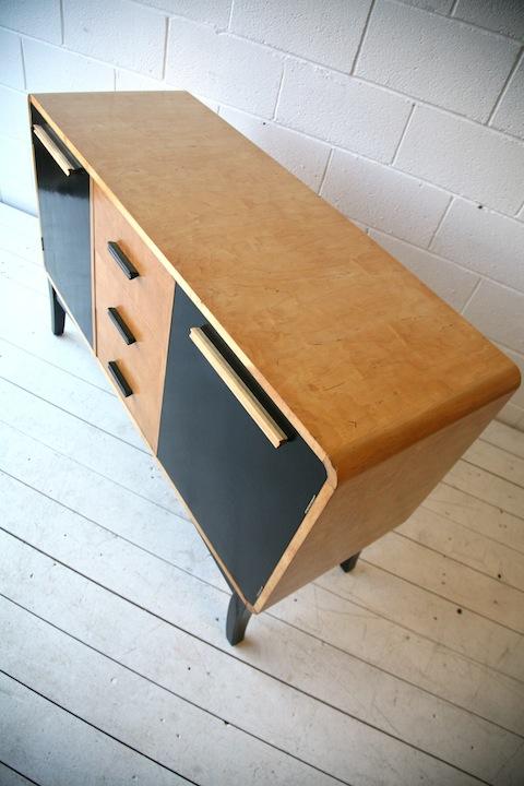 1930s Maple Veneer Sideboard by Asko Finland