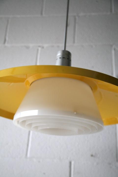 1960s Ceiling Light Cream And Chrome