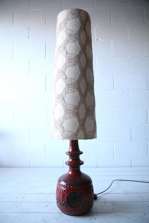 1960s Ceramic West German Floor Lamp by Bay3