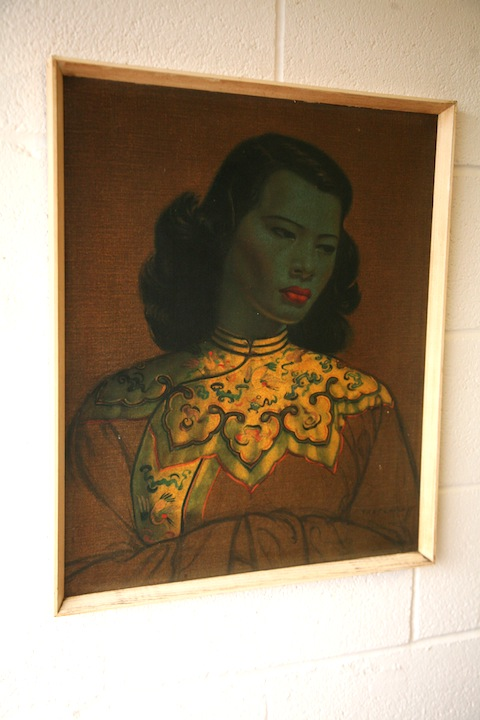 Chinese Girl Print By Tretchikoff Cream And Chrome