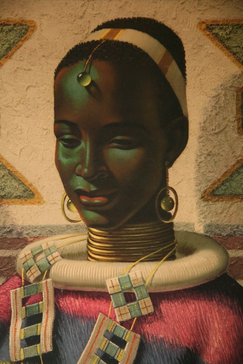 Ndebele Girl Print By Tretchikoff Cream And Chrome