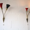 1950s Black Red Wall Lights 1