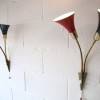 1950s Black Red Wall Lights 2
