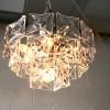 1960s Chrome Glass Ceiling Light by Kinkeldey Germany4