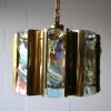 1960s Large Gold Glass Chandelier  2