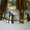 1960s Large Gold Glass Chandelier  3
