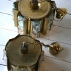 1960s Medium Gold Glass Chandelier  3