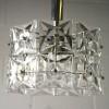 1960s Small Chrome Glass Ceiling Light by Kinkeldey Germany