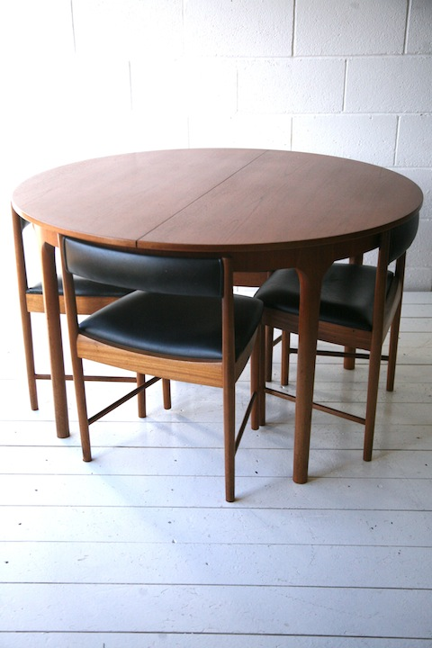 S Teak Dining Table And Chairs Cream And Chrome - Teak table and 4 chairs