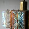 1970s Gold Glass Ceiling Light 1