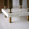 1970s Large Marble Brass Table Lamp3