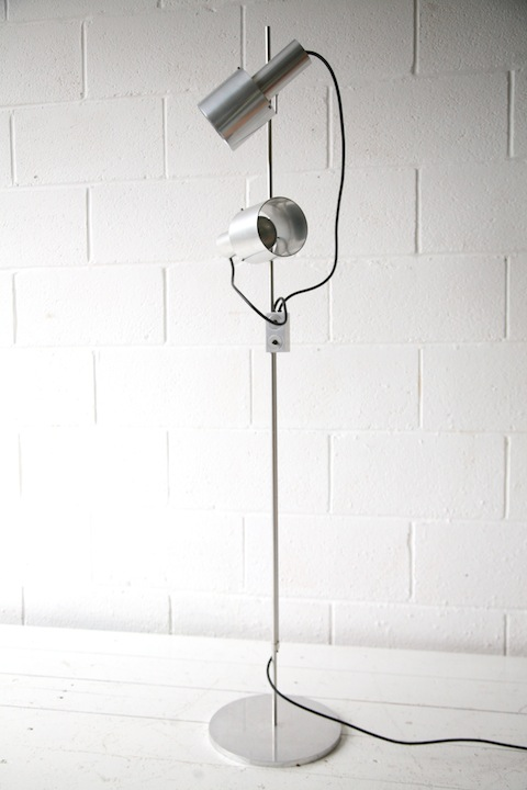 Floor lamp by peter nelson cream and chrome floor lamp by peter nelson aloadofball Image collections