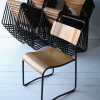 Set of 23 Industrial Stacking Chairs