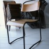 Set of 23 Industrial Stacking Chairs 1