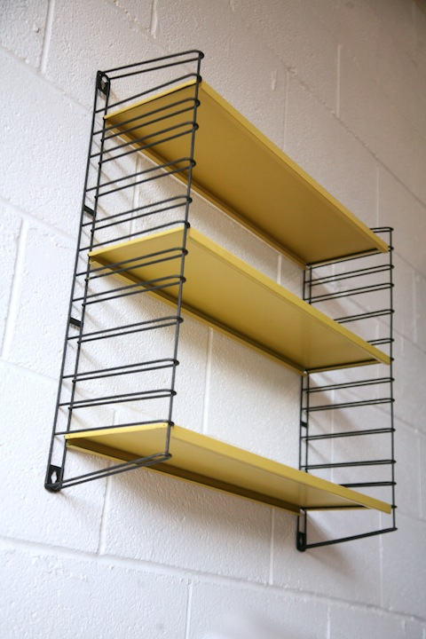1950s Shelving Unit By Tomado Cream And Chrome