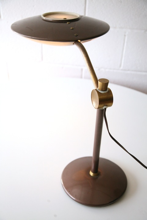 1960s Desk Lamp By Dazor Usa Cream And Chrome