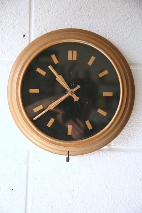 Vintage Smiths Clock Cream And Chrome