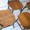Vintage High Backed Dining Chairs by by Ilmari Tapiovaara 3