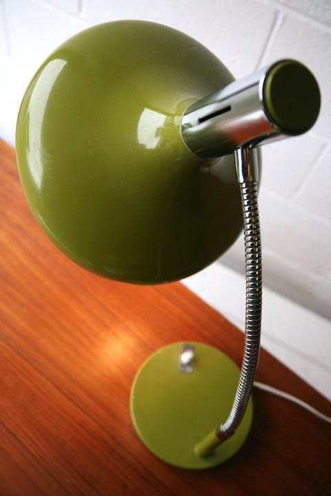 1970s Green Italian Desk Lamp2