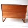 Vintage Danish Teak Record Cabinet 1