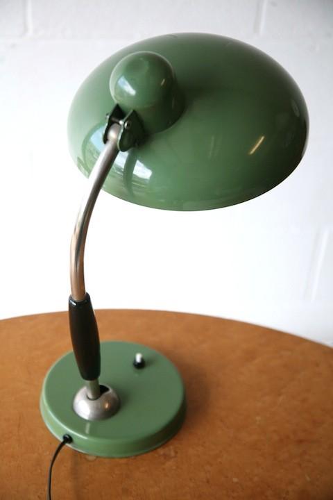 1930s Green Desk Lamp1
