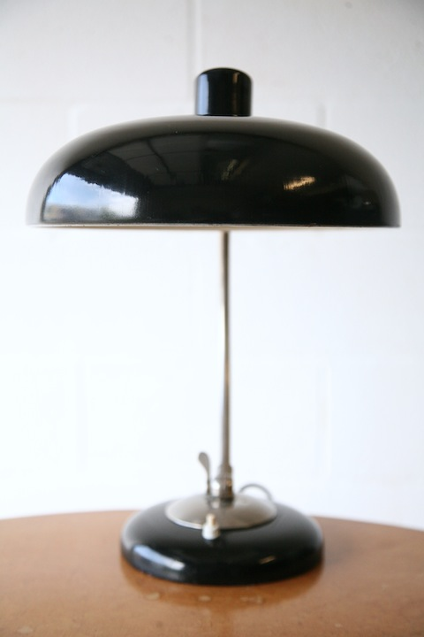 1930s kaiser idell 6631 desk lamp cream and chrome. Black Bedroom Furniture Sets. Home Design Ideas